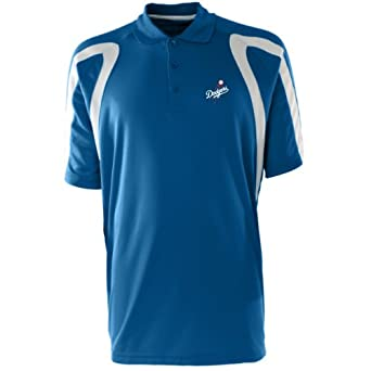 MLB Mens Los Angeles Dodgers Point Desert Dry Polo by Antigua