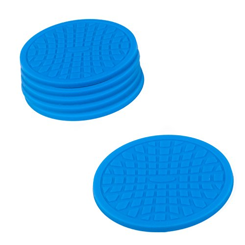 Coasters by Simple Coasters - The Best Drink Coasters and Bar Drink Coasters - These Coasters for Drinks Won't Stick to Your Glass - For Indoors or Outdoors - Great for Hot or Cold Beverages (Blue)