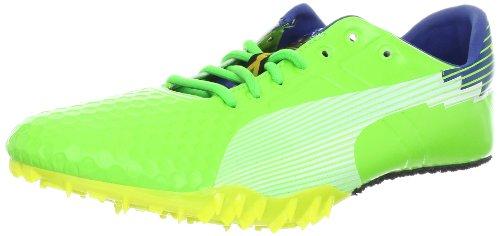 9afd1bec1029 PUMA Men s Bolt Evospeed Sprint TD Track Shoe Jasmine Green Monaco Blue 14  D US