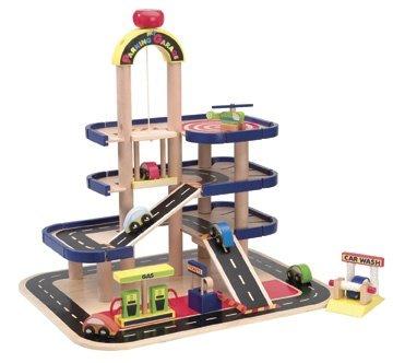 Alex Parking Garage - Buy Alex Parking Garage - Purchase Alex Parking Garage (Panline, Toys & Games,Categories,Play Vehicles,Wood Vehicles)