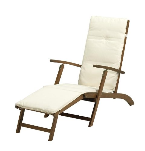 Royalcraft Napoli Steamer Chair with Ecru Cushion