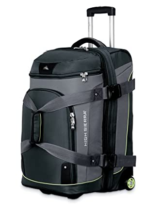 High Sierra 26 Drop Bottom Wheeled Duffle by High Sierra