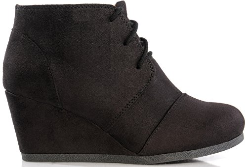 Marco Republic Galaxy Womens Wedge Boots - (Black) - 7.5