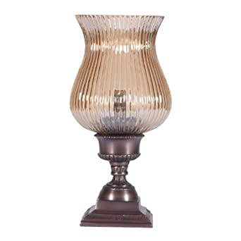 small glass shaded torchiere accent table lamp uplight. Black Bedroom Furniture Sets. Home Design Ideas