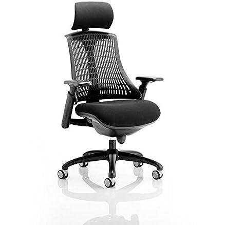dinamica KC0103Flex direzionale sedia con braccioli e poggiatesta–nero
