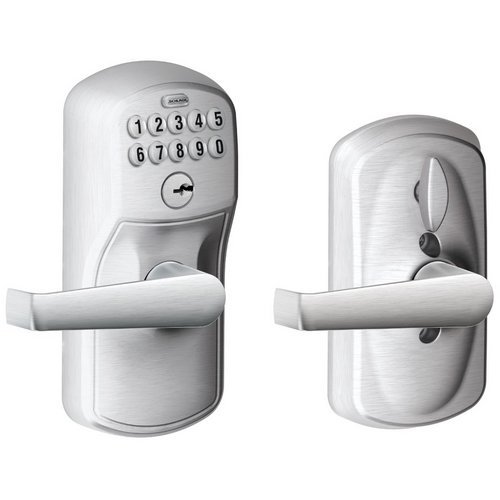 Schlage Fe595-Ply-Ela Keypad With Flex Lock Feature Allows You To Choose Whether, Satin Chrome