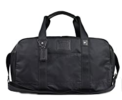 Authentic Coach Voyager Travel Gym Bag Nylon Black 70504