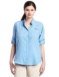 Columbia Women's Tamiami II Long Sleeve Shirt- Plus, White Cap, 1X