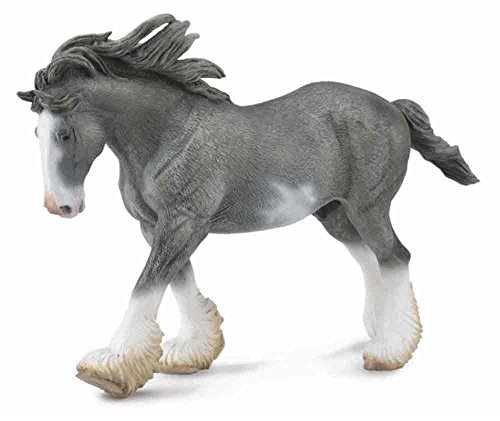 CollectA Clydesdale Stallion, Black Sabino Roan