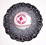 Boston Red Sox Shatter Baseball cling window decal