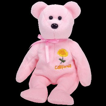 Ty Beanie Baby California Poppy Bear