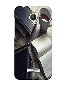 Bagsfull Designer Printed Matte Hard Back Cover Case For Micromax Canvas Spark Q380
