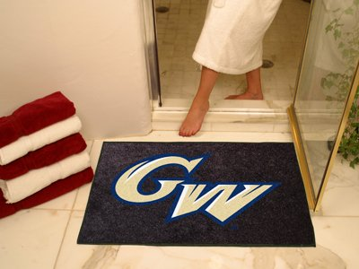 NCAA George Washington Chromo Jet Printed Rectangular Area Rug Floor Mat 45