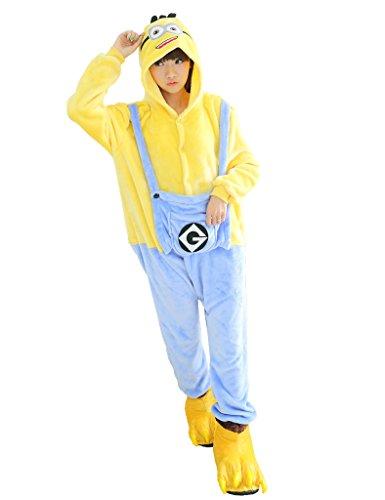 UDreamTime Halloween festa in costume di Cosplay Pigiama Pigiama Kigurumi Minions S