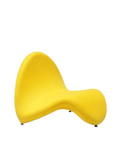 International Design USA Tongue Lounge Chair, Yellow