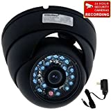 VideoSecu Day Night Vision Outdoor CCD CCTV Security Dome Camera Vandal-proof 3.6mm Wide View Angle Lens 480TVL with Bonus Power Supply 1Z0 ~ VideoSecu