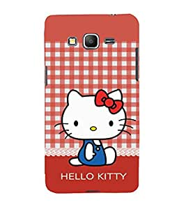 printtech Kitty Cat Back Case Cover for Samsung Galaxy Grand Prime G530h