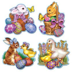 Easter Cutouts Party Accessory (1 count) - 1