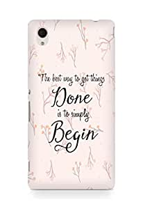 AMEZ the best way to get things done is to begin Back Cover For Sony Xperia M4