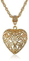1928 Jewelry 14k Gold-Dipped Filigree…