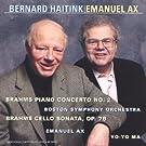 Brahms : Concerto Pour Piano N 2, Sonate Pour Violoncelle, Op 78 [IMPORT]