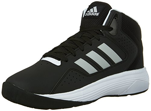 adidas-performance-mens-cloudfoam-ilation-mid-basketball-shoeblack-metallic-silver-white8-m-us