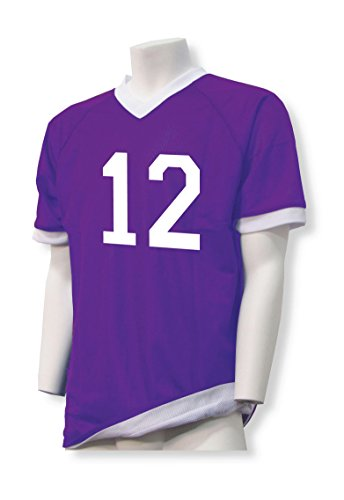 Reversible flag football jersey, customizable with your player number - size Adult XL - color Purple/White (Numbered Shirts compare prices)