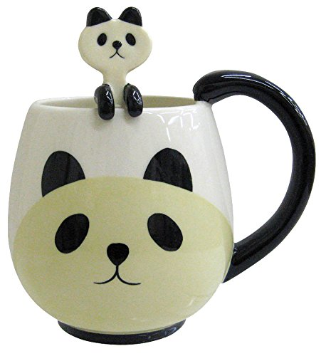 Panda Mug and Spoon<br> 12 Oz.