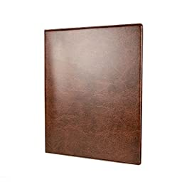 Blumberg\'s Deluxe Walnut Grained Pegboard Portfolio with Aluminum Writing Surface