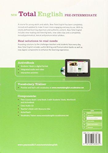 New Total English Pre-Intermediate Flexi Coursebook 2 Pack (libro+CD)