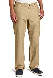 Docker's Men's Off The Clock Khaki D2 Straight-Fit Flat-Front Pant