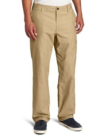 Dockers Men's Off The Clock Khaki D2 Straight Fit Flat Front Pant, Gold Rush, 29x30