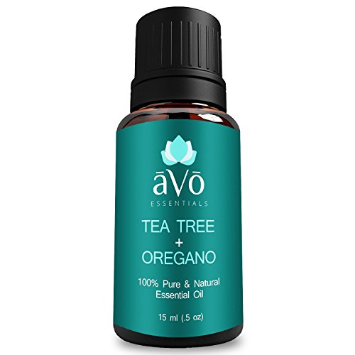 ?V? Skin Tag Removal, Ringworm Treatment, Toenail Fungus, and Psoriasis Blend - Pure Tea Tree Oil and Oregano Oil - 100% Therapeutic Grade Essential Oil - 15ml