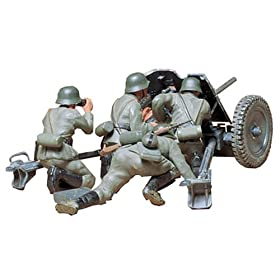 Ger. 37mm Anti-tank Gun Military Model Kit