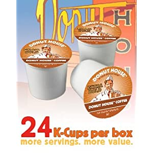 Donut House Collection Light Roast Coffee, 24-Count K-Cups for Keurig Brewers