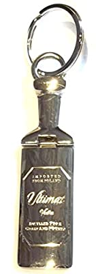 Ultimat Vodka Metal Bottle Shaped Keychain