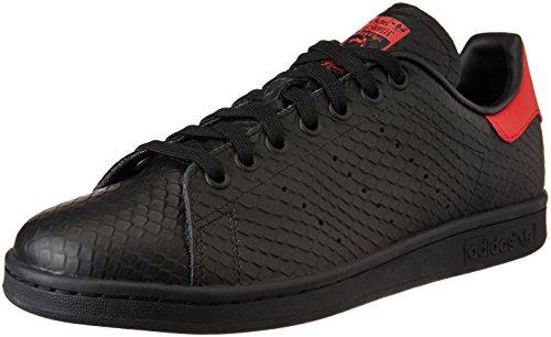 adidas Stan Smith, Scarpe da Ginnastica Basse Uomo, Nero (Cblack/Cblack/Scarle), 45 1/3 EU