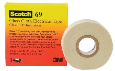 "Scotch 69 Glass Cloth Tape - 1/2"" X 66'"