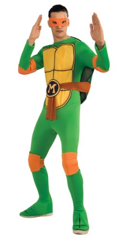 Nickelodeon Ninja Turtles Adult Michelangelo costume and Accessories