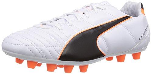 Puma Universal II FG, Calcio scarpe da allenamento uomo, Bianco (Weiß (white-black-fluo flash orange 02)), 40