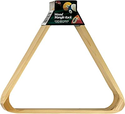 "Viper Billiard/Pool Table Accessory: 8-Ball Rack, Hardwood Triangle, Holds Standard 2-1/4"" Sized Balls"