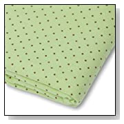 SwaddleDesigns Cotton Flannel Brown Polka Dots Fitted Crib Sheet
