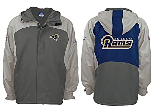 Youth Reebok St. Louis Rams NFL Midweight Proline 2006 Equipment Sidelines Hooded Jacket (S=6-8)