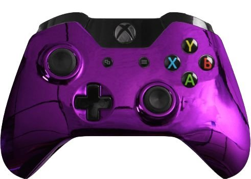 Custom Xbox One Controller Special Edition Purple Chrome Controller