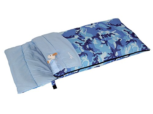 Bertoni Bimbo Junior 150 Camo Blu Sacco a Pelo da Bambino da Campeggio o Casa, Camo Blu, Unica