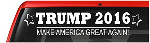 donald trump 2016 car vinyl decal quotmake america great With kitchen colors with white cabinets with make america great again bumper sticker