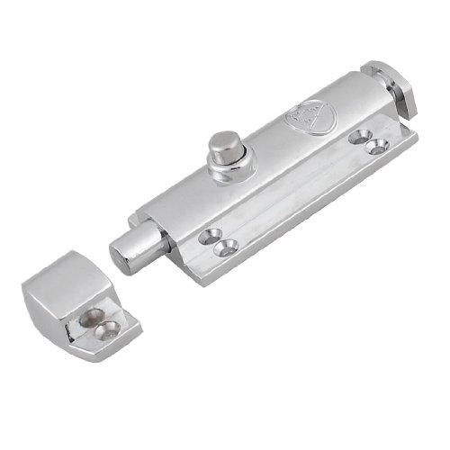 Home Office Security Finger Push Door Bolt Latch Lock Guard 3.5