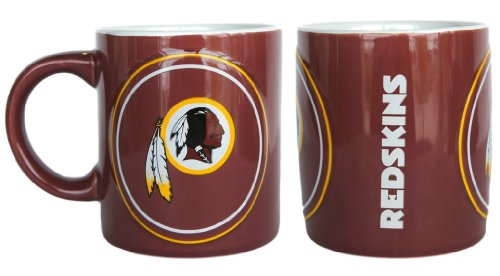 Washington Redskins Coffee Mug - 14Oz Sculpted Warm Up (Please See Item Detail In Description)