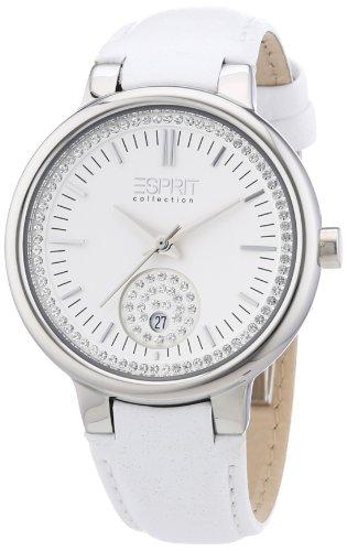 Esprit EL101972F01 - Reloj analógico de cuarzo para mujer con correa de piel, color blanco
