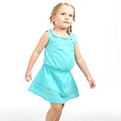 cherry crumble california Sea Green Dress For Girl (9-12 Months)